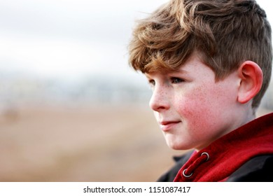 Boy on a sandy beach