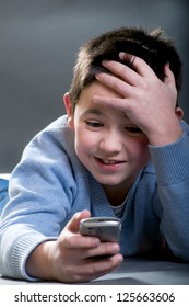 The boy  with phone
