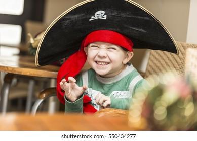 Boy in a pirate costume