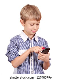 boy play with smart phone
