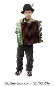 boy playing acordeon