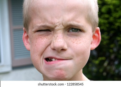 Boy With A Popeye Expression