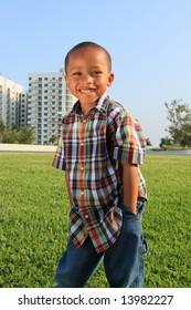 Boy Posing for the Camera