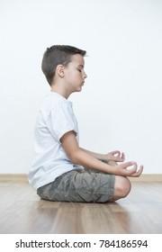 boy practicing yoga, meditation as a way of life