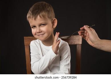Boy refuses medicine