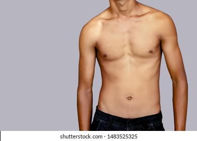 Boy Show his lean body