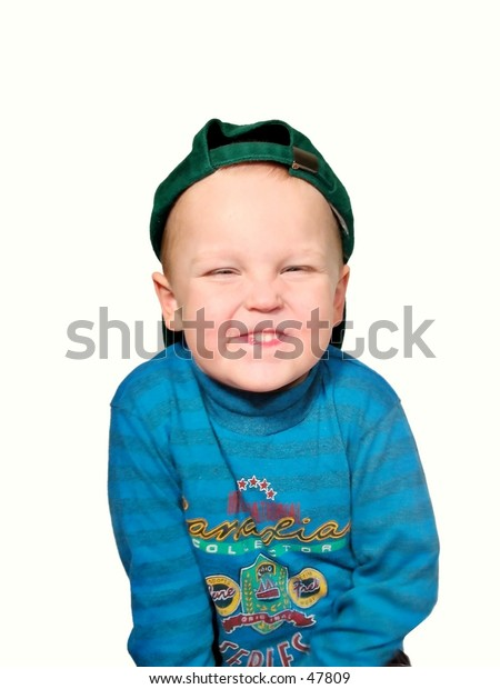 boy with silly face