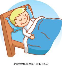 Boy sleeping doodle