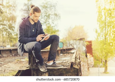 Boy and Tablet