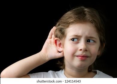 Boy Trying to hear something