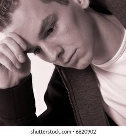 boy who is depressive
