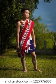 a boy from zeme zelianrong zeliang tribe - Shutterstock ID 1227976888