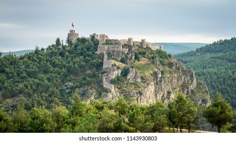 Boyabat, Turkey - June 2018: Historic Boyabat Castle in Sinop city, Turkey