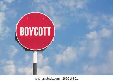 Boycott Sign