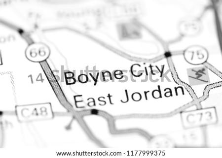Boyne City Michigan Usa On Map Stock Photo Edit Now 1177999375