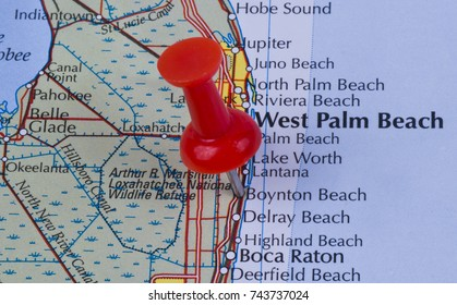 Boynton Beach Florida Map.Deerfield Beach Florida Broward County United Stock Photo Edit Now