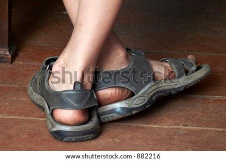 623c9e127bac Boys dirty legs sandals stock photo edit now shutterstock jpg 450x320 Dirty  sandals