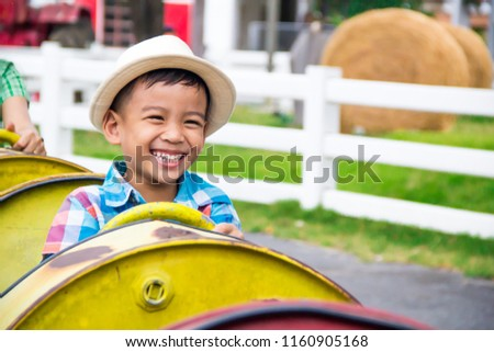 Boys Doing Fun Activities Playground On Stock Photo Edit Now