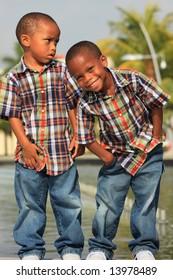 Boys Dressed Alike