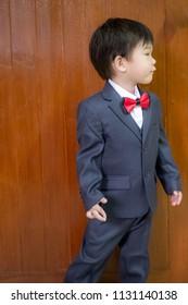 Boys in formal dresses