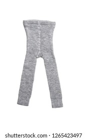 Boy's long underwear (winter, warm, wool) isolated on white background/ Top view/ Flat lay
