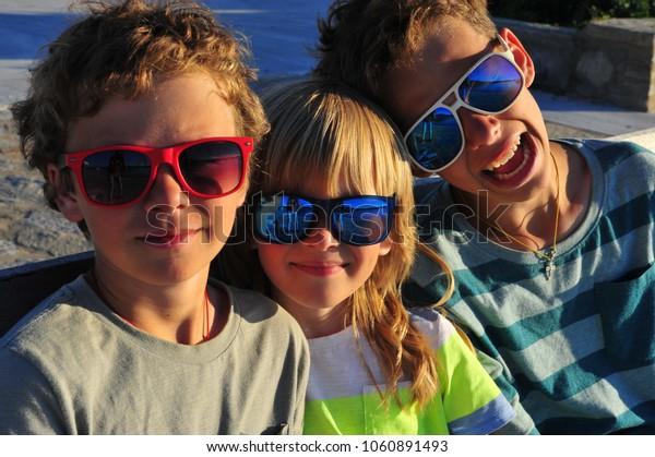The boys in sunglesses
