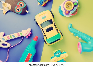 Toys For Boys To Color : Boys toys on color background top stock photo edit now 1008072949