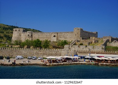 BOZADA, TURKEY - APR 28, 20218 - Ottoman era fortress on island of Bozcaada, Turkey