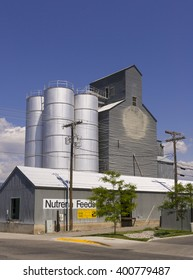 BOZEMAN, MONTANA, USA - JULY 2004: Grain elevators.