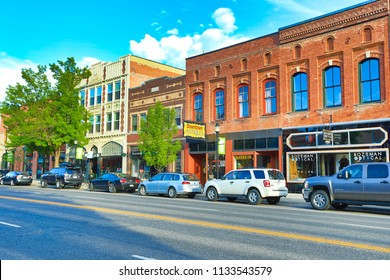 BOZEMAN, MONTANA/USA - MAY 30, 2018:  Bozeman, Montana is often considered to be the gateway to Yellowstone National Park.  It is also frequently voted as one of the best places to live or retire.