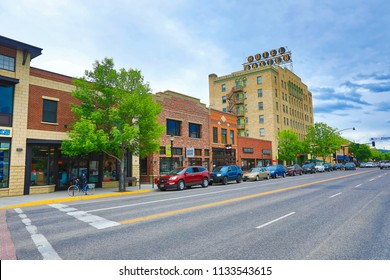 BOZEMAN, MONTANA/USA - MAY 31, 2018:  Bozeman, Montana is often considered to be the gateway to Yellowstone National Park.  It is also frequently voted as one of the best places to live or retire.