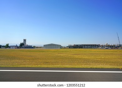 BOZEMAN, MT -5 SEP 2018- View of the Bozeman Yellowstone International Airport (BZN),  located in Gallatin County, Montana. It serves tourists visiting Yellowstone National Park.