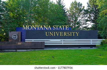 BOZEMAN, MT -7 SEP 2018- View of the campus of Montana State University in Bozeman, home of the Bobcats. MSU is a public research and teaching university.