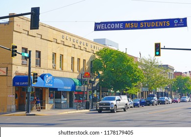 BOZEMAN, MT -7 SEP 2018- View of downtown Bozeman, Montana, home to the campus of Montana State University (MSU).