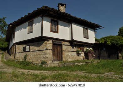 Bozhentsi, Bulgaria - MAY 23, 2016: Restored medieval house in the Bulgarian village of Bozhentsi, which is an architectural reserve near Gabrovo showing National Revival architecture and history