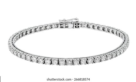 Bracelet diamond isolated on white