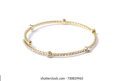 bracelet with diamonds on white
