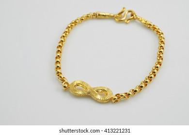 bracelet gold infinity