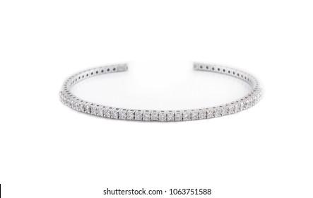 Bracelet jewelry diamonds gem gold platinum white gold isolated