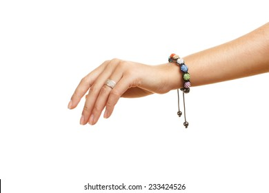 bracelet on a hand isolated