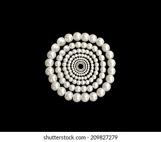 bracelet from pearls on a black background