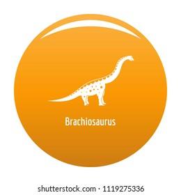 Brachiosaurus icon. Simple illustration of brachiosaurus icon for any design orange