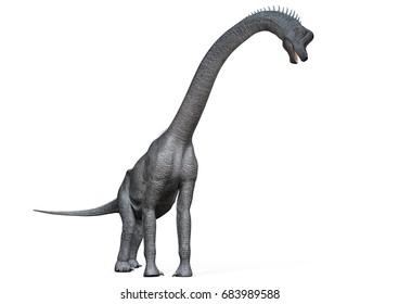 Brachiosaurus right view, 3D-Rendering