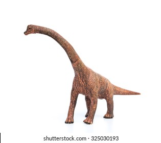 brachiosaurus toy on a white background