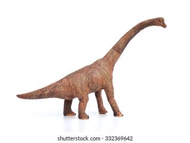 brachiosaurus toy on a white background