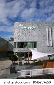 Bracknell, England - March 11, 2018: The Fenwick Department Store as viewed from Town Square, part of the new Lexicon Shopping Centre in Bracknell, England