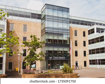 Bracknell, England. United Kingdom - May 17 2020: Time Square Offices of Bracknell Forest Council