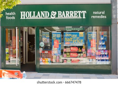 BRACKNELL, UK - 26 JUNE 2017: Holland and Barrett, Europe's largest health food shop, sold to Russian firm on 26th June 2017