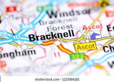 Bracknell. United Kingdom on a map