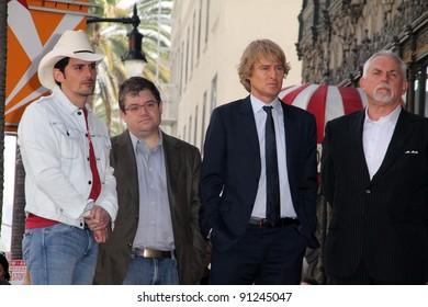 Brad Paisley, Patton Oswalt, Owen Wilson, John Ratzenberger at John Lasseter's Star on the Hollywood Walk of Fame, Hollywood, CA 11-1-11